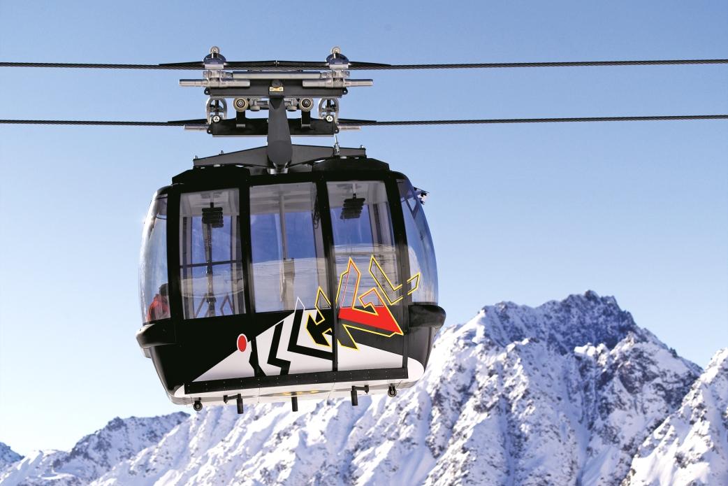 Ski Total   A Gondola in Ischgl