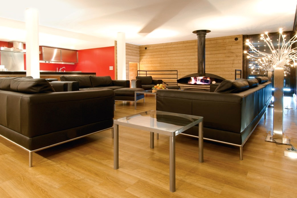 Ski Total | The chalet Arktic's lounge area