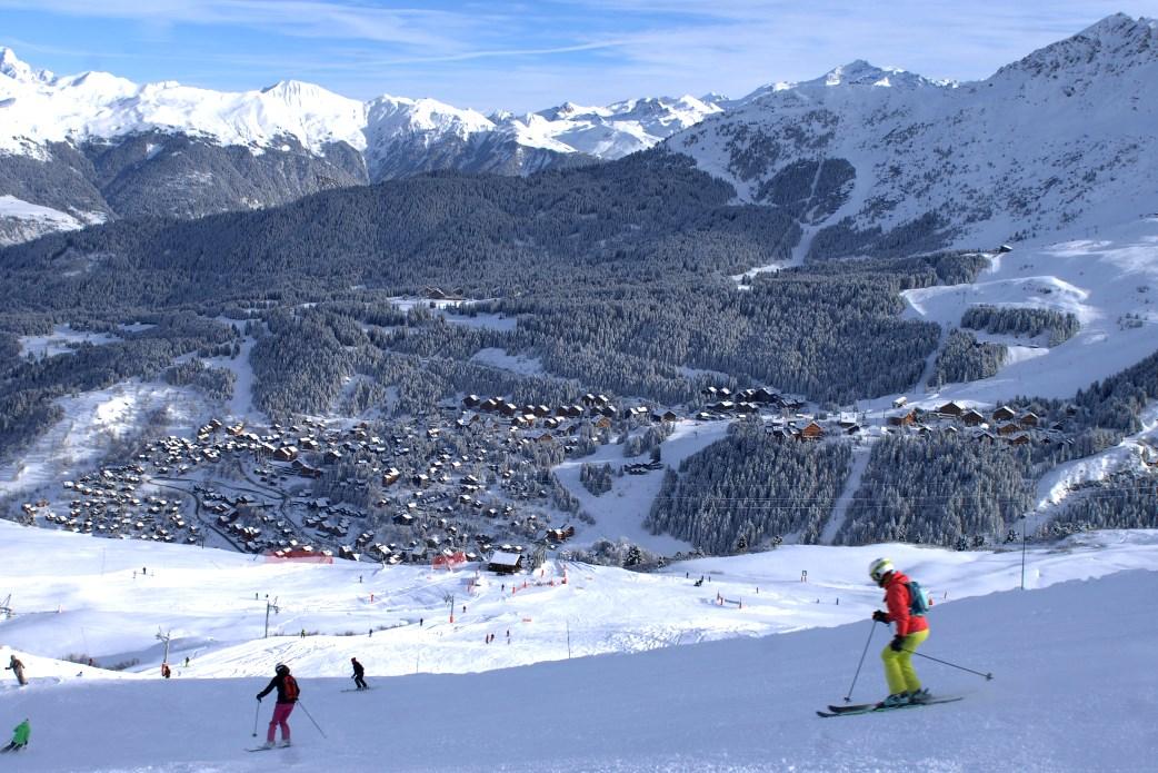 Ski Total   Piste down to Meribel centre