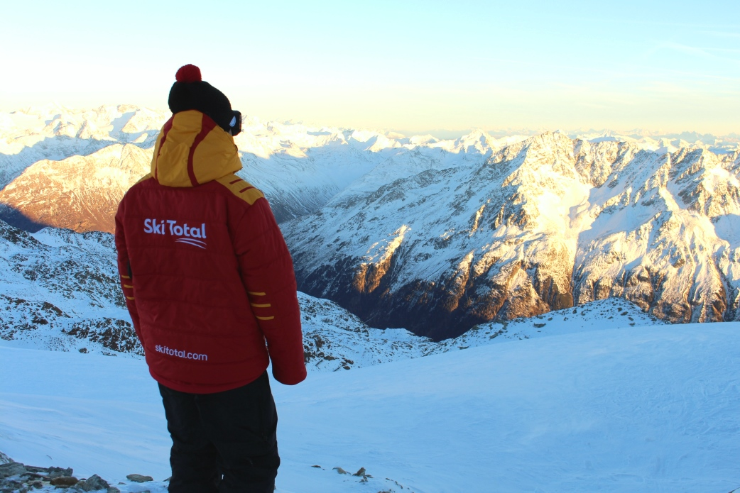 Ski Total | A Ski Total rep looking on top of the world in Solden