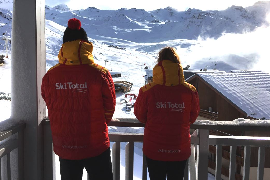 Ski Total | Ski Total Representatives enjoying the view of the chalet Catherine