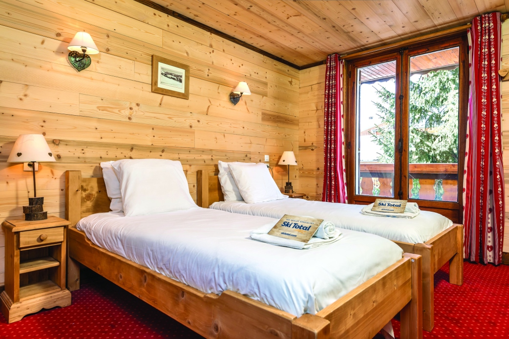 Ski Total | a typical bedroom in the chalet christian
