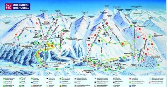Obergurgl Ski map