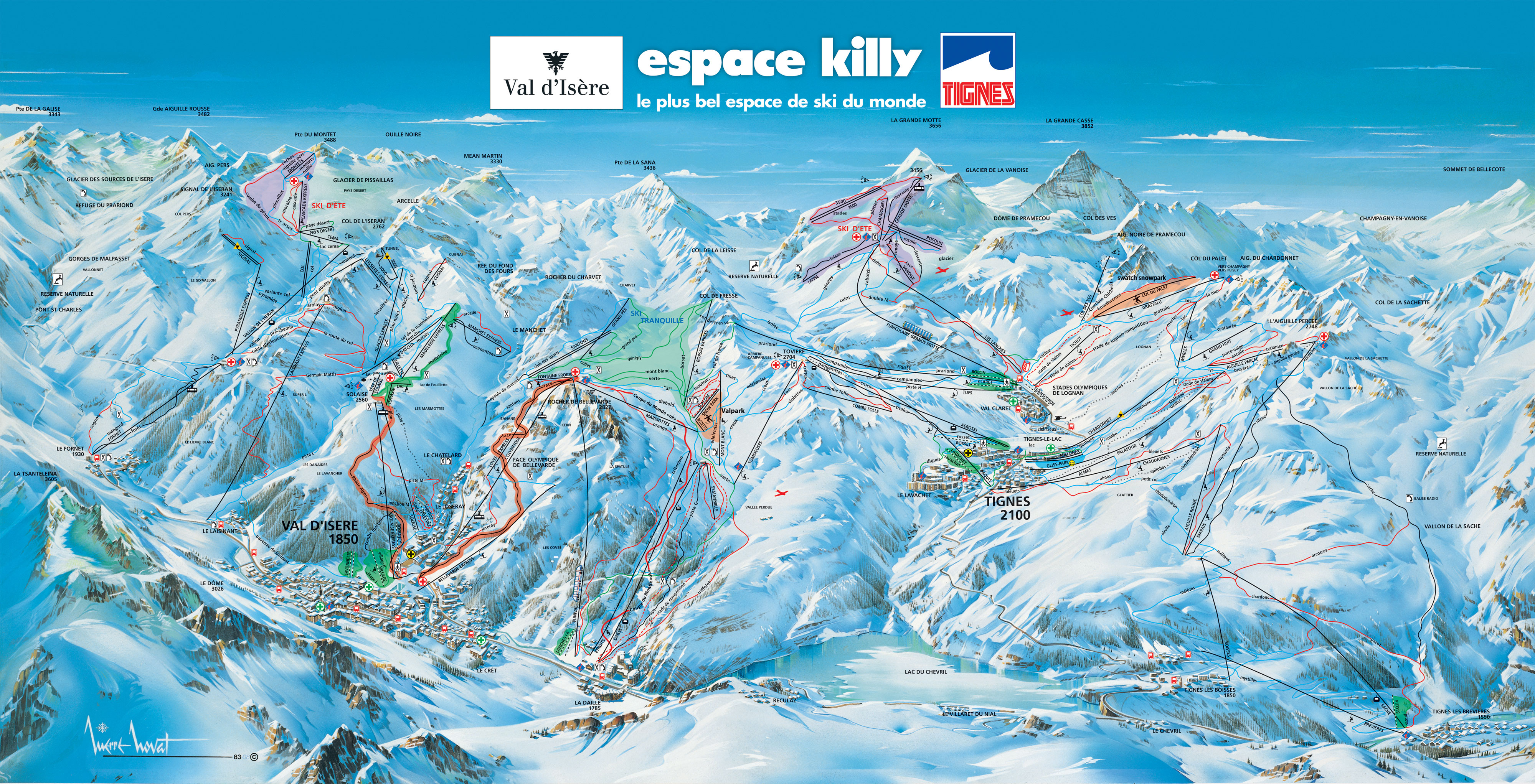 Top 5 Pistes in Val dIsre Ski Total