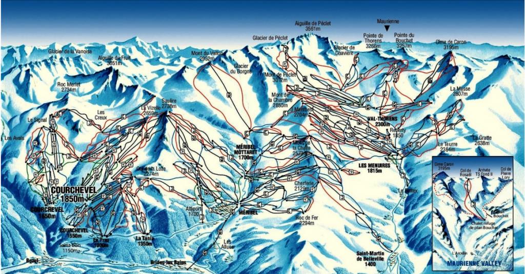Off Piste ski map