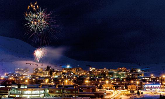 Fireworks in Alpe d'Huez