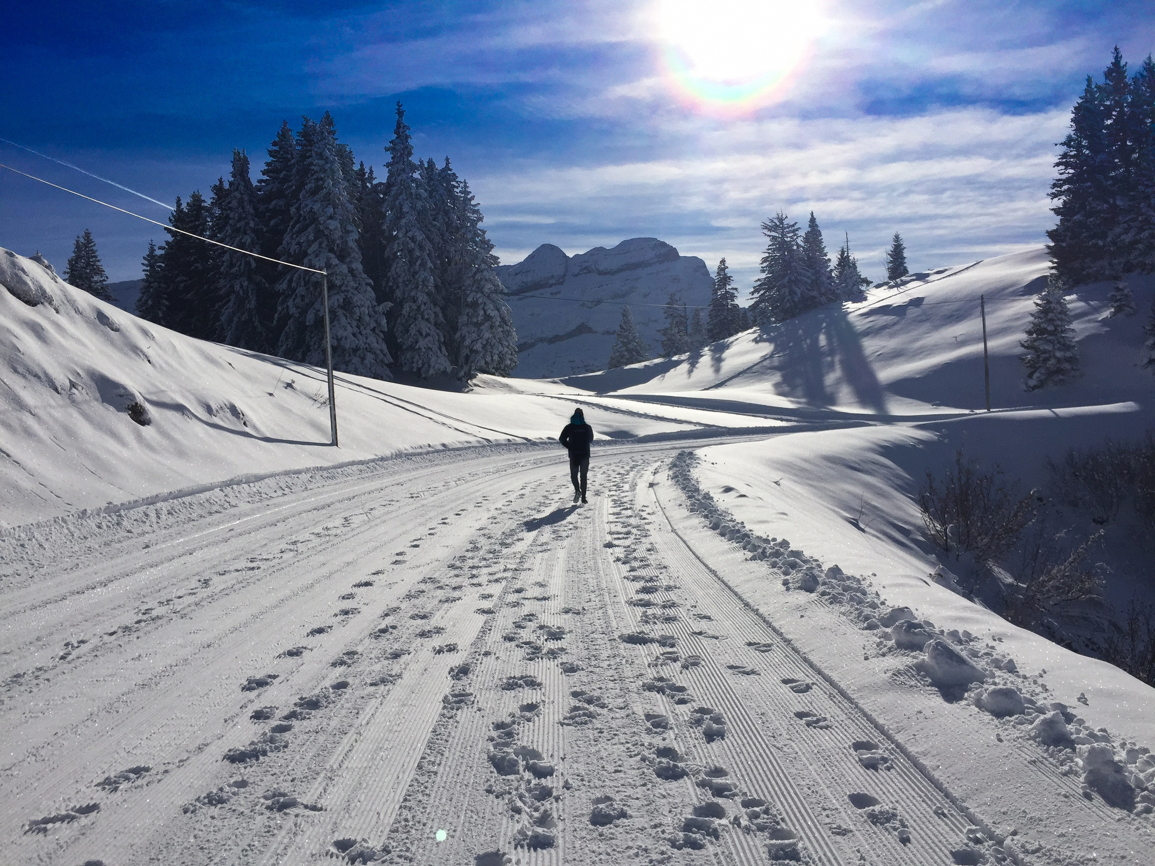 Walking the piste
