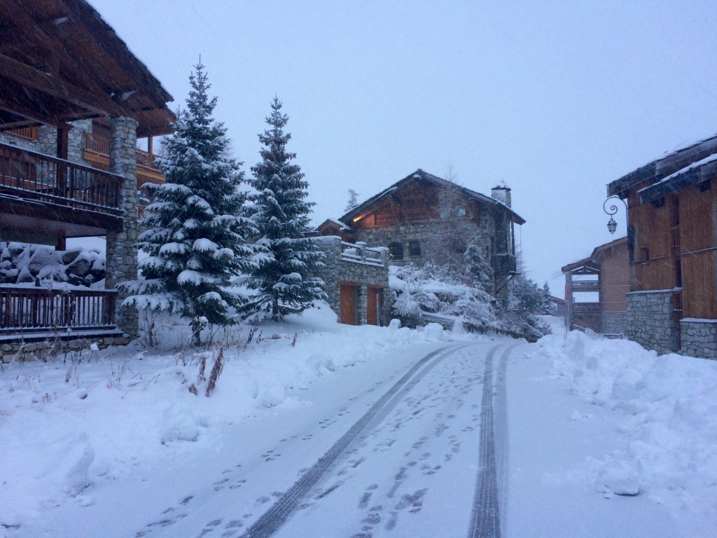 First Snow in Val d'Isere