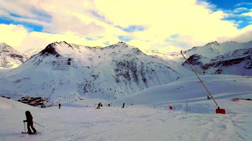 The fingers in tignes ready for linecatcher