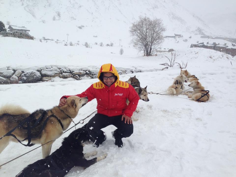 for val disere non skiers blog, dog sledding
