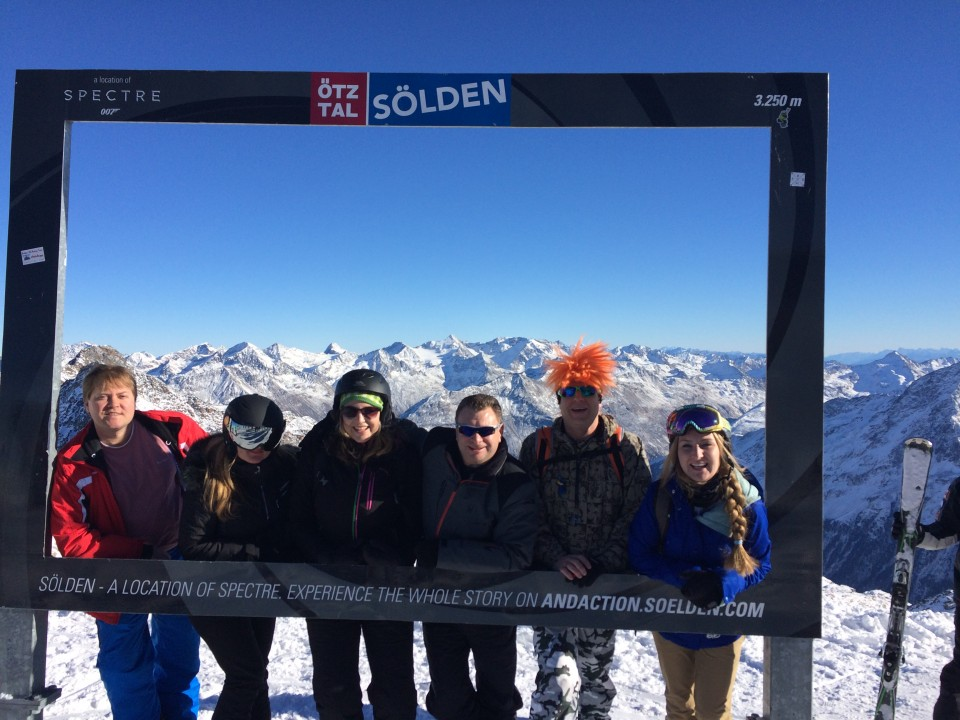 Our Ski Away day to Solden, visiting the location where 'Spectre' was filmed