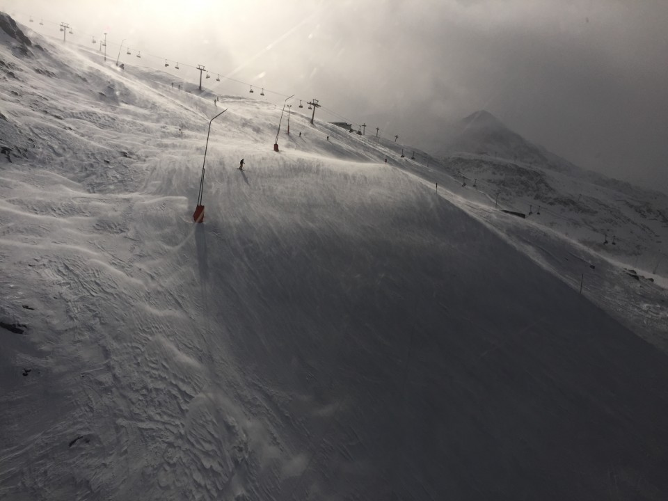 Windswept slopes in Obergurgl