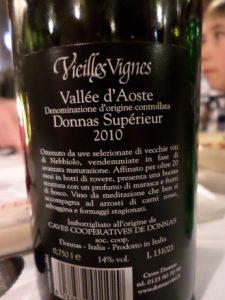 Wine Donnas Aosta Champoluc