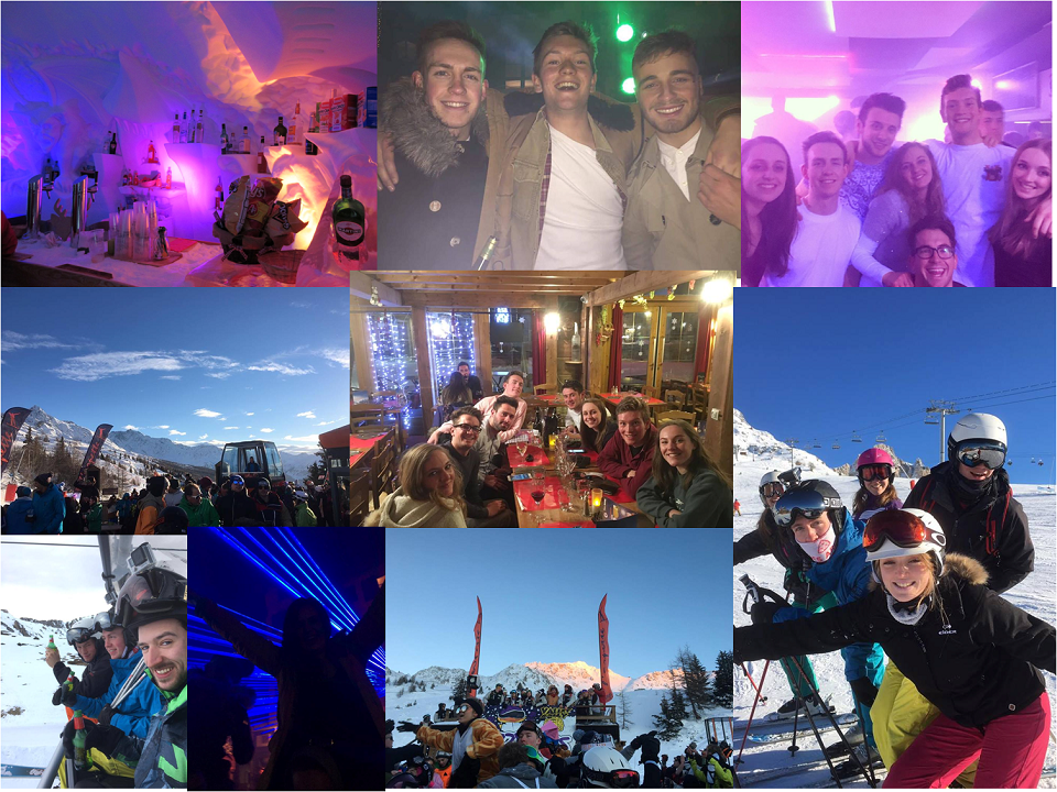 Ski Total | montage of groups of friends skiing