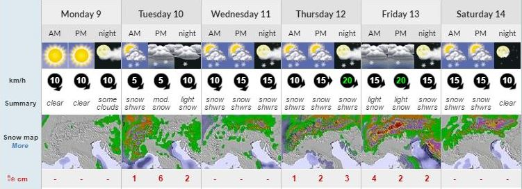 Ski Total | Snow forecast for Champoluc