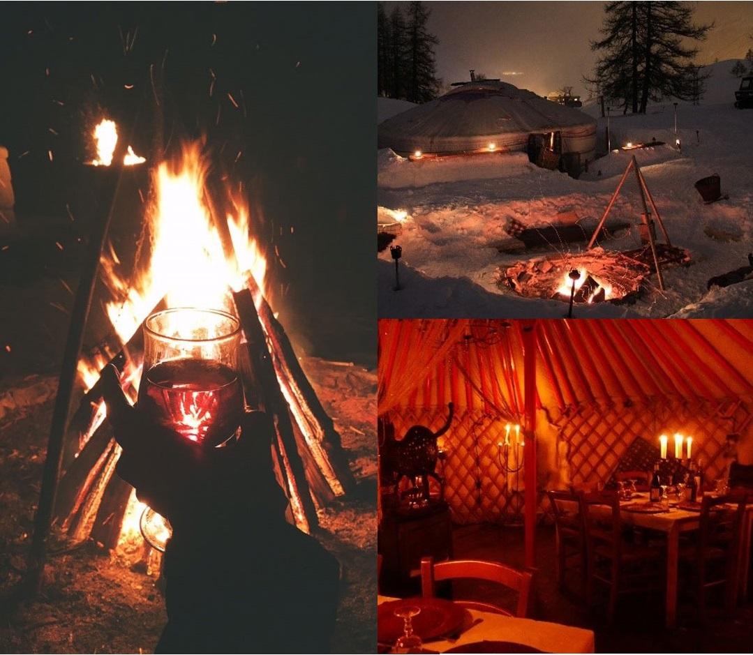 Ski Total | romantic bonfire in the snow