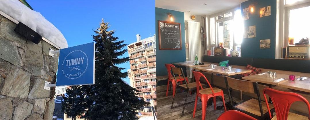 Ski Total | the outside and interior of Tummy restaurant
