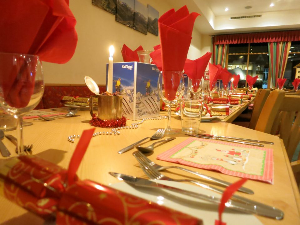 Ski Total   Christmas day dining at Chalet Belmonte