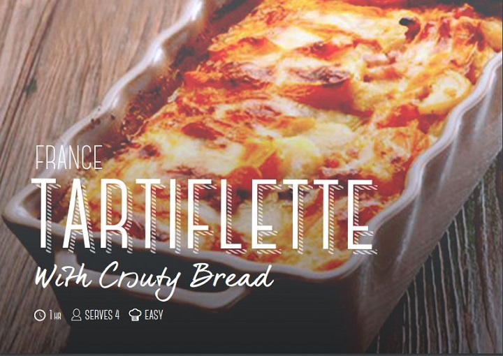 Ski Total | image of tartiflette baked in a dish