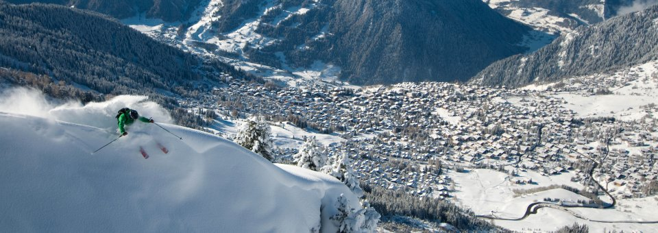 Ski Total | Off piste skiing in Verbier, copyright Felix Tanguay